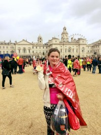 Naz London Marathon finish line
